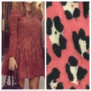 TRF Zara Collection Red Animal Print Dress